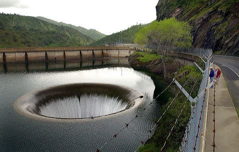 Monticello Dam water hole