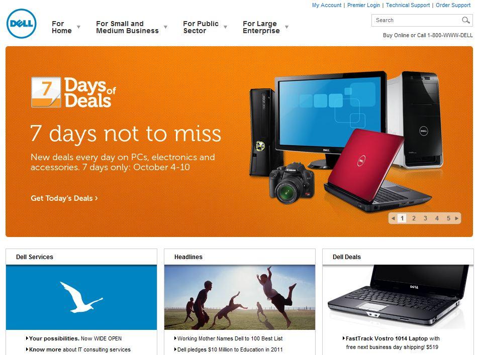 Dell.com Homepage
