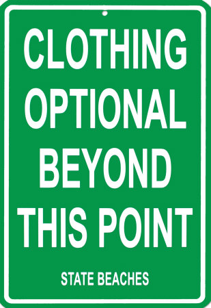 clothing optional sign