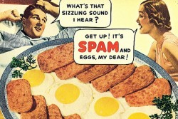 spam and eggs vintage ad